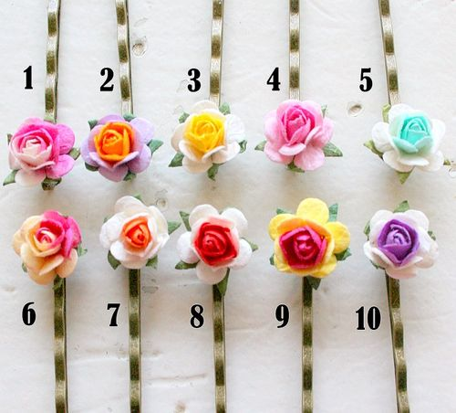 Rose color pins