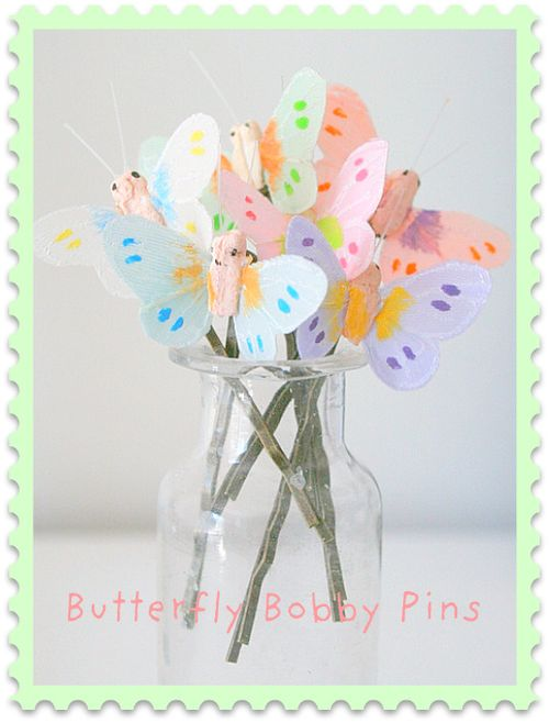 NEW Butterfly Bobby Pins