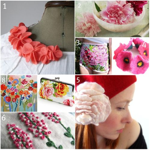 Etsy flowers collage