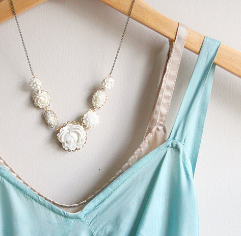 White rose necklace 7