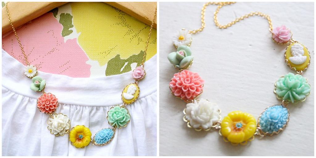 Flower market collage