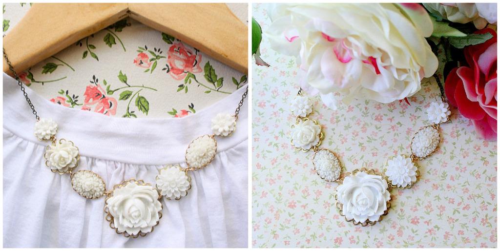White rose collage