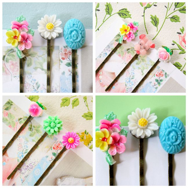 Hair pins collage