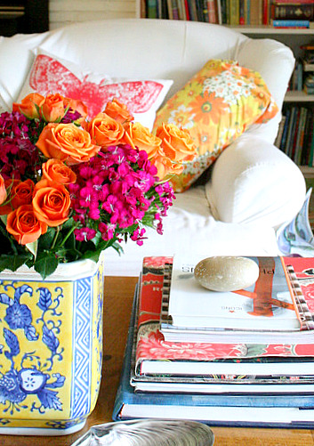 Orange and Fuschia Flowers1