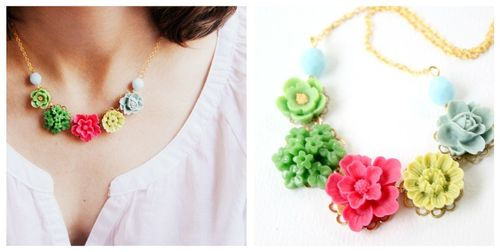 Joy necklace collage