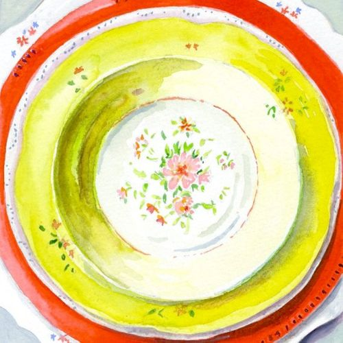 Miri plate painting
