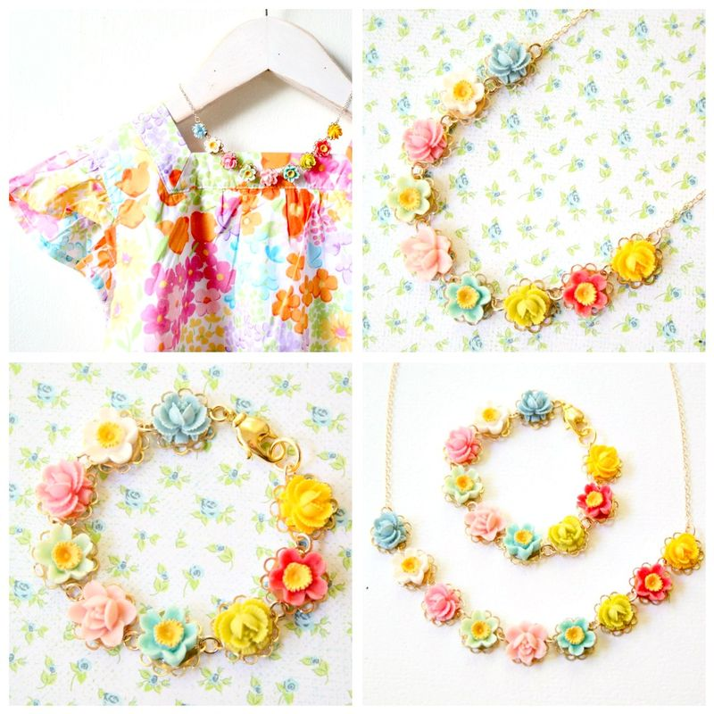 Blog collage necklace set