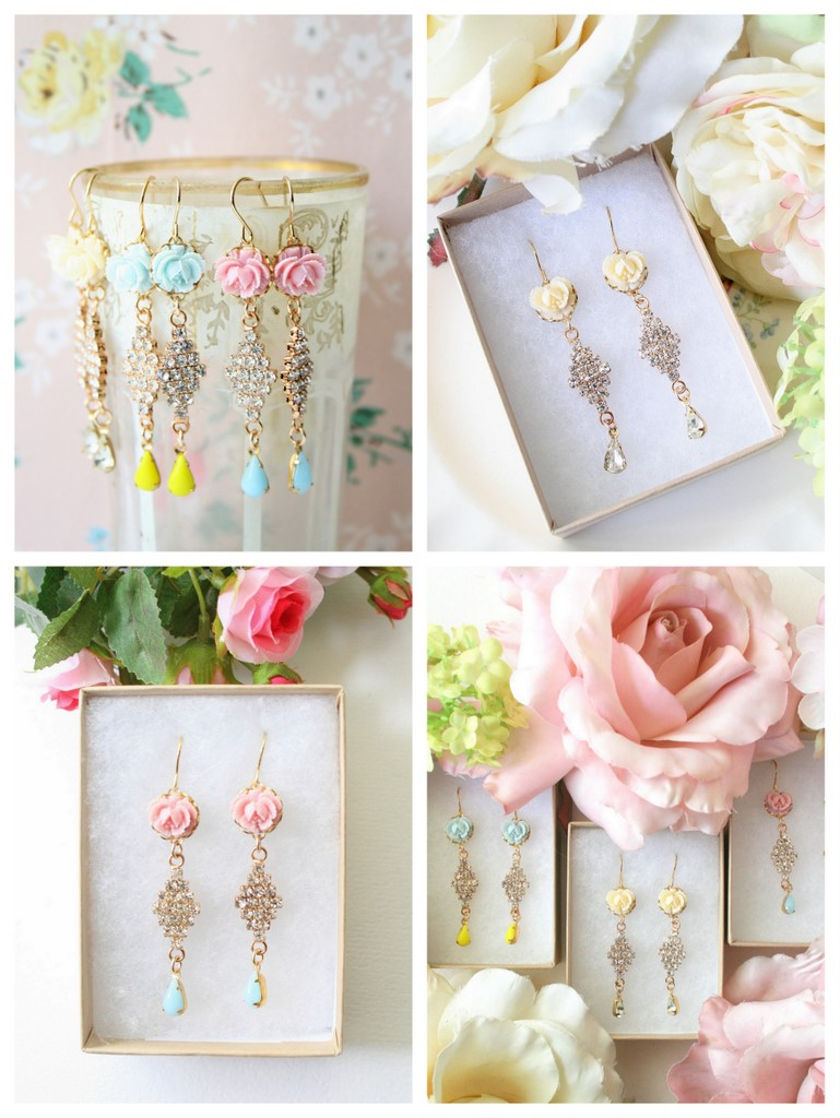 French Rose Earrings