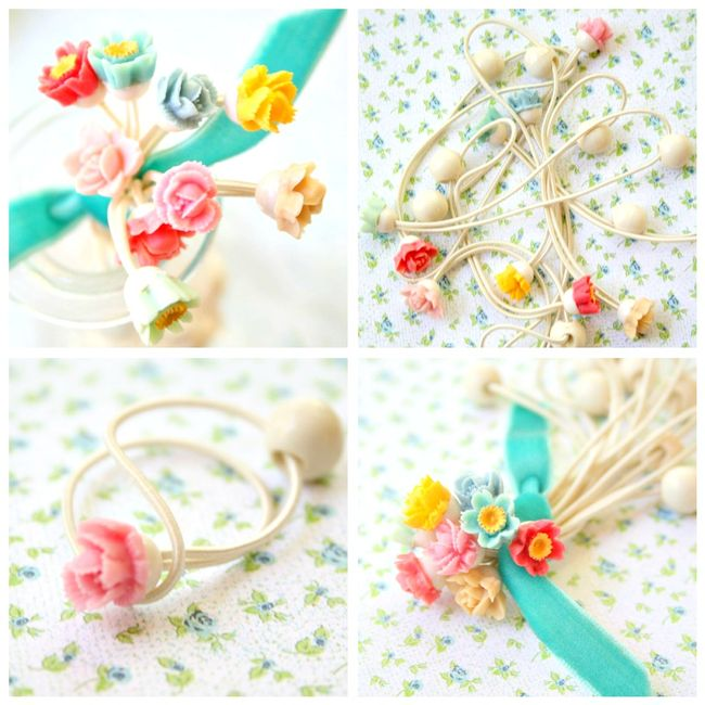 Blog collage hair ties